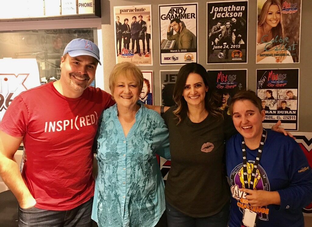 Jeff, Lauren, Sandra and Sarah Pepper with 106.9 The Mix Houston